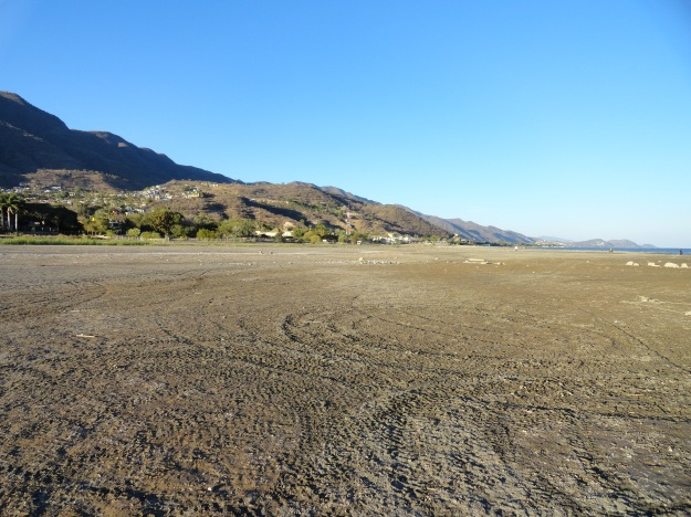 Dry lakebed. Once again revealed