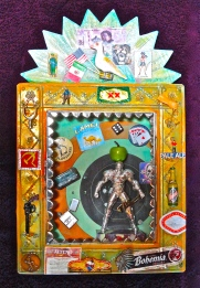 My newest retablo deals with the dichotomy between the masculine and the feminine in both Mexico and the world.