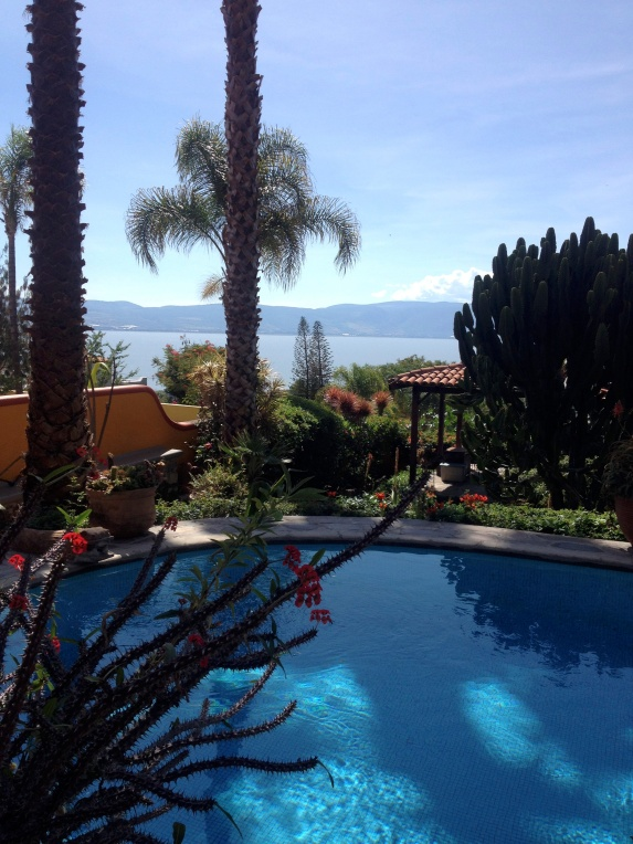Backyard overlooking Lake Chapala.
