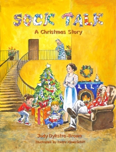 Sock Front Cover A Christmas story orangeB30-1 copy