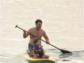 Then he paddled me back again.