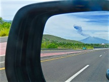 After I drove past the volcano, I glanced into my rear vision mirror and thought perhaps I now knew why!