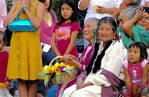 Women at Rebozo Parade in Ajijic