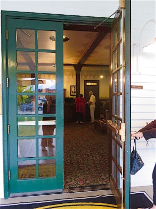 Enter into the lobby of the hotel and you go back in time.