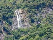 A closeup of the largest seasonal falls.