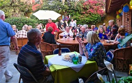 This was a small part of the capacity crowd that filled the garden part of the restaurant.