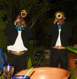 Duelling trumpets or cornets.. I can never tell the difference.