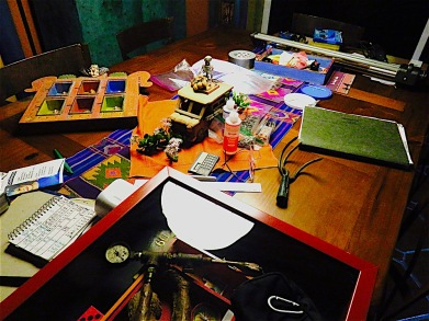 The chaos of trying to get work ready for a group show.