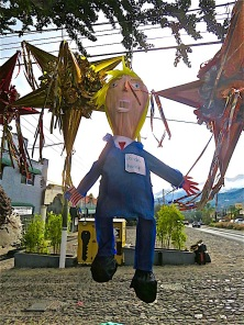 On the last day of 2016, some citizens will surely be taking a swing at one of these pinatas. This one is similar to the one I bought the day before the election and which I still haven't really dealt with.