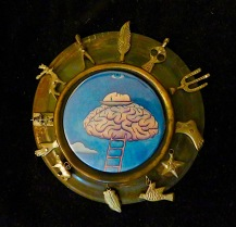 "Picture brooch: ""Creative Mind"""