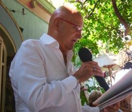 Herbert read at the writer's group at the Nueva Posada....