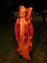 Weird costume: bacon???