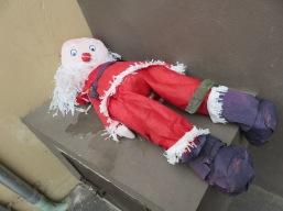 Weird mugged Santa