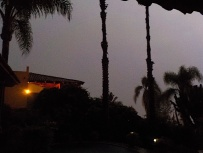 At midnight, the lightning made it look like daylight