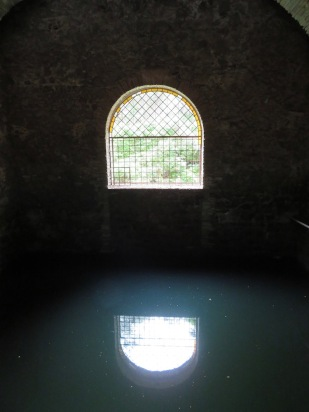 Cistern for the house. Since this was is a mining town, the mine trailings went into the river, raising its level and causing flooding.
