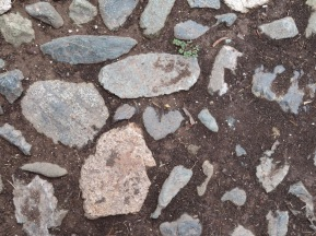 Loved this heart of stone in the paving.