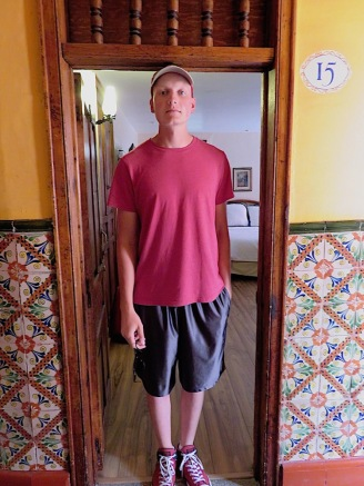 Ryan barely fit through the doorway to our room.