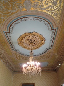 Chandelier in the opera house.