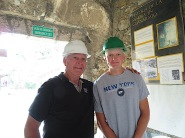 Ryan and friend John about to descend the 600 steps into the mine. And ascend them again! I gave up after the first 25.