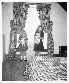 Patti and I with our Christmas dolls, 1951
