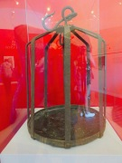 This is the cage that Miguel Hidalgo's head was displayed for for ten years on the wall of the Granary in Guanajuato..