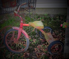 A greening tricycle,