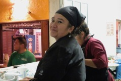 Antonia, Agustin's wife and head Chef.