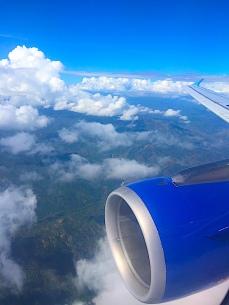 Finally airbound.