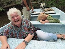 With Gloria and Rachel in La Manzanilla, Mexico