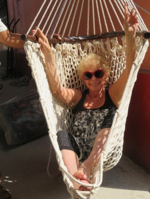 Gloria looked great in this chair in the local street market, but it didn't go home with her.