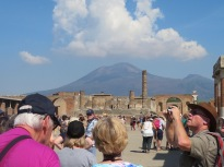 Vesuvius looming over the city she destroyed.