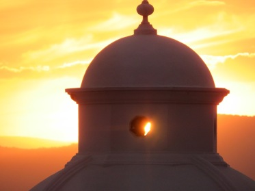 Gold Sunset Peeping Through