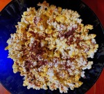 Popcorn with grated chocolate. I know. Naughty.
