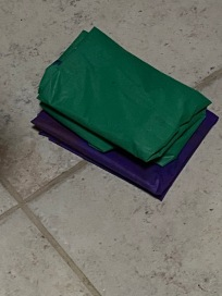 An hour and a half later, the plastic tablecloths were restored to their neat pile,