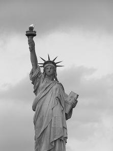 Lady Liberty, bronze, New York Harbor