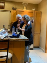 Susan was very enthusiastic about breaking out the chanpagne, but Blue insisted we make do with wine (and gin and tonic for me) until dessert,