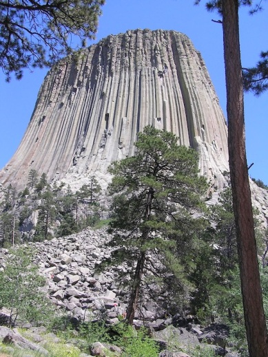 With Bob at Devil's Tower, Wyoming