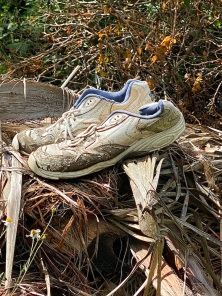 past the abandoned shoes